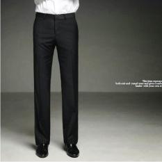 TERBUKA 2017 Musim Semi And Panas Musim Wol Asli Kasual Celana Ramping Korea Bisnis Panas Gratis Anti With Kerut-kerut Gaun Pants-hitam-Intl