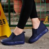 Toko Orang Malas Kain Baru Mikro Bom Untuk Membantu Sepatu Kanvas Rendah Biru Terlalu Kecil Dan Setengah Yard Kaki Lemak Silakan Ukuran Plus Satu Yard Sepatu Wanita Flat Shoes Universal Di Tiongkok