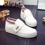 Harga Orang Malas Korea Fashion Style Musim Gugur Kanvas Putih Sepatu Velcro Sepatu Wanita Putih Sepatu Wanita Sepatu Sport Sepatu Sneakers Wanita Oem Ori