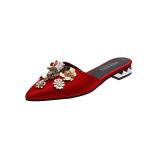 Review Terbaik Orang Malas Modis Bunga Menunjuk Pakaian Luar Sandal Sendal Merah