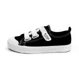 Spesifikasi Orang Malas Musim Semi Baru Sepatu Wanita Velcro Sepatu Kanvas Hitam Murah Berkualitas