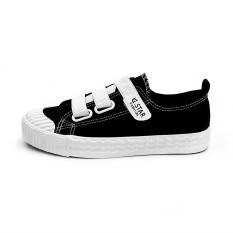 Harga Orang Malas Musim Semi Baru Sepatu Wanita Velcro Sepatu Kanvas Hitam Yg Bagus