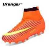 Harga Oranger Sepatu Sepak Bola Pria Terbaru Panjang Spike Pelatihan Football Luar Ruangan Pelatih Profesional Football Boot Tinggi Ankle High Top Soccer Orange Satu Set