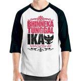 Ordinal T Shirt One Indonesia 10 Raglan Putih Hitam Murah