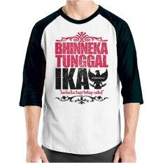 Jual Ordinal T Shirt One Indonesia 10 Raglan Putih Hitam Ori