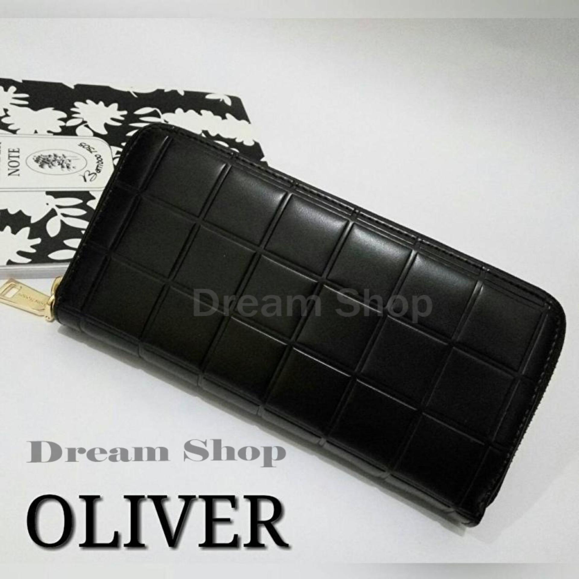 Bahan lembut dan enak dipakai Ori kulit Dompet Panjang Wanita Murah -  Oliver Wallet - Dream Shop  Black  4c2c8702c2