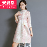 Ulasan Gaya Cina Gaya Cina Baru Musim Semi Dan Musim Panas Harian Gadis Gaun Rok Cheongsam Warna