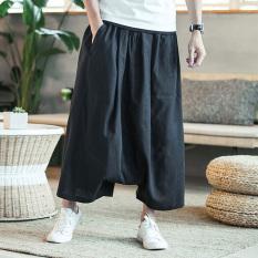 Jual Beli Online Angin Cina Celana Pakaian Pria Yard Besar Celana Baggy Pria Hitam