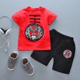 Toko Jual Oriental Style Retro Anak Anak Lengan Pendek Celana Pendek T Shirt Topeng China Merah