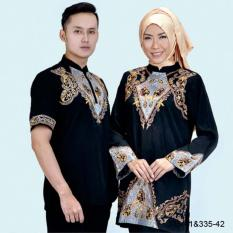 Original Azzurra  Jual Baju Koko Muslim Couple Pria 335-41  Warna : Hitam  Terbuat dari Bahan : Kelly