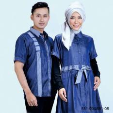 Original Azzurra  Jual Baju Koko Muslim Couple Pria 581-09  Warna : Biru  Terbuat dari Bahan : Porto
