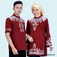 Original Azzurra  Jual Baju Koko Muslim Couple Pria 582-03  Warna : Maroon  Terbuat dari Bahan : Kelly