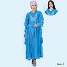 Original Azzurra  Jual Gamis Muslimah Casual Wanita 340-12  Warna : Biru  Terbuat dari Bahan : Hicone