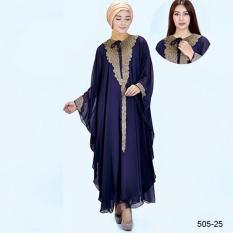 Original Azzurra  Jual Gamis Muslimah Casual Wanita 505-25  Warna : Ungu  Terbuat dari Bahan : Hicone