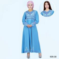 Original Azzurra  Jual Gamis Muslimah Casual Wanita 505-30  Warna : Biru  Terbuat dari Bahan : Spandek