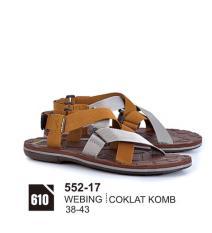 Original Azzurra  Jual Sandal Gunung / Adventure Pria 552-17  Warna : Coklat Komb  Terbuat dari Bahan : Webing