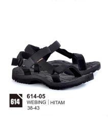 Original Azzurra  Jual Sandal Gunung / Adventure Pria 614-05  Warna : Hitam  Terbuat dari Bahan : Webing