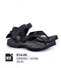 Original Azzurra  Jual Sandal Gunung / Adventure Pria 614-06  Warna : Hitam  Terbuat dari Bahan : Webing