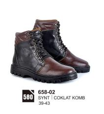 Original Azzurra  Jual Sepatu Boots Casual Pria 658-02  Warna : Coklat Komb  Terbuat dari Bahan : kulit