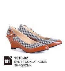 Original Azzurra  Jual Sepatu Casual Wedges Wanita 1510-02  Warna : Coklat Komb  Terbuat dari Bahan : synt