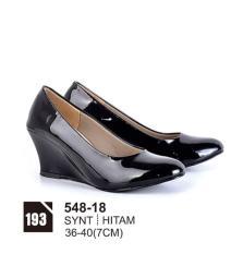 Original Azzurra  Jual Sepatu Casual Wedges Wanita 548-18  Warna : Hitam  Terbuat dari Bahan : Synt