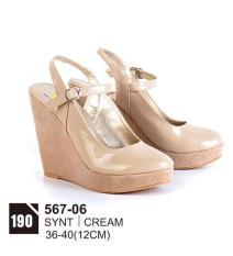 Original Azzurra  Jual Sepatu Casual Wedges Wanita 567-06  Warna : Cream  Terbuat dari Bahan : Synt