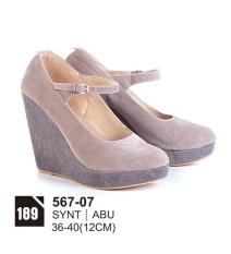 Original Azzurra  Jual Sepatu Casual Wedges Wanita 567-07  Warna : Abu  Terbuat dari Bahan : Synt