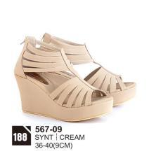 Original Azzurra  Jual Sepatu Casual Wedges Wanita 567-09  Warna : Cream  Terbuat dari Bahan : Synt