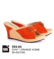 Original Azzurra  Jual Sepatu Casual Wedges Wanita 594-04  Warna : Orange Komb  Terbuat dari Bahan : Synt