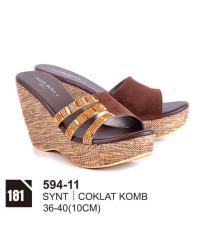 Original Azzurra  Jual Sepatu Casual Wedges Wanita 594-11  Warna : Coklat Komb  Terbuat dari Bahan : Synt