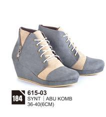 Original Azzurra  Jual Sepatu Casual Wedges Wanita 615-03  Warna : Abu Komb  Terbuat dari Bahan : Synt