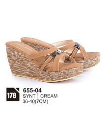 Original Azzurra  Jual Sepatu Casual Wedges Wanita 655-04  Warna : Cream  Terbuat dari Bahan : Synt