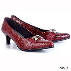 Original Azzurra  Jual Sepatu Formal / Kerja / Pesta Wanita 548-12  Warna : Maroon  Terbuat dari Bahan : Kulit