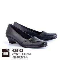Original Azzurra  Jual Sepatu Formal / Kerja / Pesta Wanita 625-02  Warna : Hitam  Terbuat dari Bahan : Synt