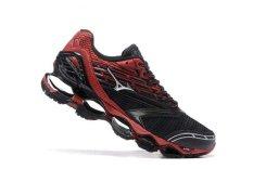 Asli MIZUNO Men's Wave Nubuat 5 Pecinta Sepatu Merah Mizuno 5 Fashion Kets Classic Olahraga dan Berjalan Bernapas Sepatu Kasual Pria-Intl
