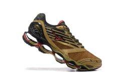 Asli MIZUNO Men's Wave Nubuat 5 Menjalankan Sepatu Glod Mizuno 5 Fashion Kets Classic Olahraga dan Berjalan Bernapas Kasual Sepatu-Intl