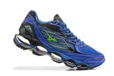 Original Mizuno Running Men's MIZUNO WAVE Nubuat 6 Running Sepatu Baru Fashion Sneakers Breathable Biru/BlackYellow Mizuno 6 Sepatu Kasual Pria-Intl