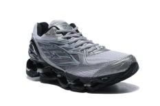 Original Mizuno Running Men's MIZUNO WAVE Nubuat 6 Running Sepatu Baru Fashion Sneakers Breathable Abu-abu/Hitam Mizuno 6 Sepatu Kasual Pria-Intl
