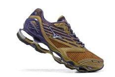 Original Mizuno Gelombang Wanita Nubuat 5 Menjalankan Sepatu Golden/Hijau Mizuno 5 Fashion Kets Classic Olahraga dan Berjalan Bernapas Sepatu Kasual Pria-Intl