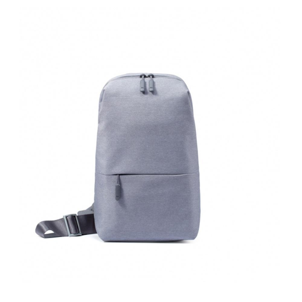 Asli Xiaomi Backpack Urban Leisure Chest Pack untuk Pria Wanita Ukuran Kecil Shoulder Type Unisex Ransel untuk Kamera DVD Phones -Bark Grey-Intl
