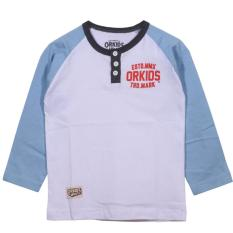 Jual Orkids Kaos Anak Mark White Baby Blue Import