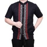 Ormano Baju Koko Muslim Batik Bordir Lengan Pendek Lebaran Hari Raya Pengajian Zo17 Kk83 Kemeja Fashion Pria Corak Masa Kini Modern Size L Hitam Dki Jakarta