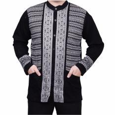 Beli Ormano Baju Koko Muslim Batik Lengan Panjang Lebaran Zo17 Kk35 Kemeja Fashion Pria Hitam Ormano Dengan Harga Terjangkau