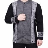 Jual Ormano Baju Koko Muslim Batik Lengan Panjang Lebaran Zo17 Kk48 Kemeja Fashion Pria Hitam Termurah