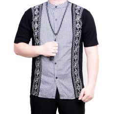 Review Tentang Ormano Baju Koko Muslim Batik Lengan Pendek Lebaran Hari Raya Pengajian Zo17 Kk95 Kemeja Fashion Pria Corak Masa Kini Modern Size L Hitam