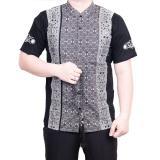Promo Ormano Baju Koko Muslim Batik Lengan Pendek Lebaran Hari Raya Pengajian Zo17 Kk99 Kemeja Fashion Pria Corak Masa Kini Modern Size L Hitam Murah
