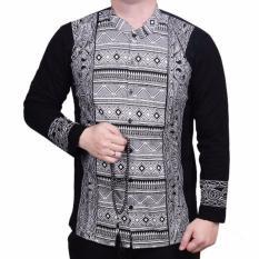 Jual Ormano Baju Koko Muslim Batik Lebaran Lengan Panjang Zo17 Kk02 Kemeja Fashion Pria Hitam Original