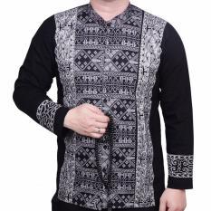Harga Ormano Baju Koko Muslim Batik Lebaran Lengan Panjang Zo17 Kk07 Kemeja Fashion Pria Hitam Ormano Ori