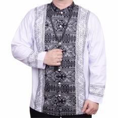 Beli Ormano Baju Koko Muslim Batik Lebaran Lengan Panjang Zo17 Kk10 Kemeja Fashion Pria Putih Cicilan
