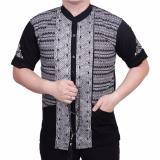 Jual Ormano Baju Koko Muslim Batik Lebaran Lengan Pendek Zo17 Kk11 Kemeja Fashion Pria Hitam Ori